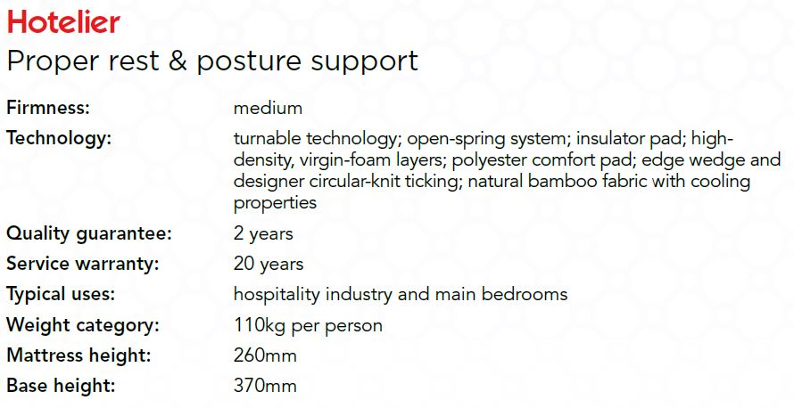 Hotelier Proper Rest Amp Posture Support Beds And More