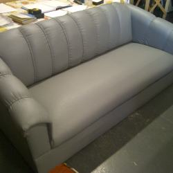Florence grey leatherette triple seater couch