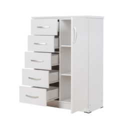 Buy a Chest of Drawers Combo White at Beds and More Parow Cape Town.