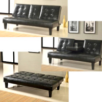 Description (LF-349) Dallas PU Leather Touch Sofa Bed Price: R2 490.00 Colour: Black