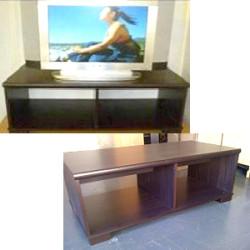Description 2 in 1 Plasma Unit / Coffee Table Price R690.00 Size: H 400mm x L 1005mm x D 495mm Colour: Wenge