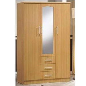 outlet store c30e9 65f2b 3 Door Wardrobe with Shelves & Drawers