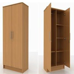 Wardrobe   Cupboards_beds And More Parow Cape Town_ 2 Door With Shelves  Wardrobe