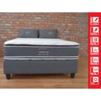 Contour Beds - Created for comfort - Buy at Beds and More in Parow, Cape Town - Orthopaedic Pocket Pillow Top Bed and Mattress Set for Sale Single mattress only: R 5 000 Single base and mattress: R 6 040 3/4 mattress only: R 5 640 3/4 base and mattress: R 6 770 Double mattress only: R 6 930 Double base and mattress: R 8 170 Queen mattress only: R 7 650 Queen base and mattress: R 8 980 King mattress only: R 9 180 King base and mattress: R 11 270